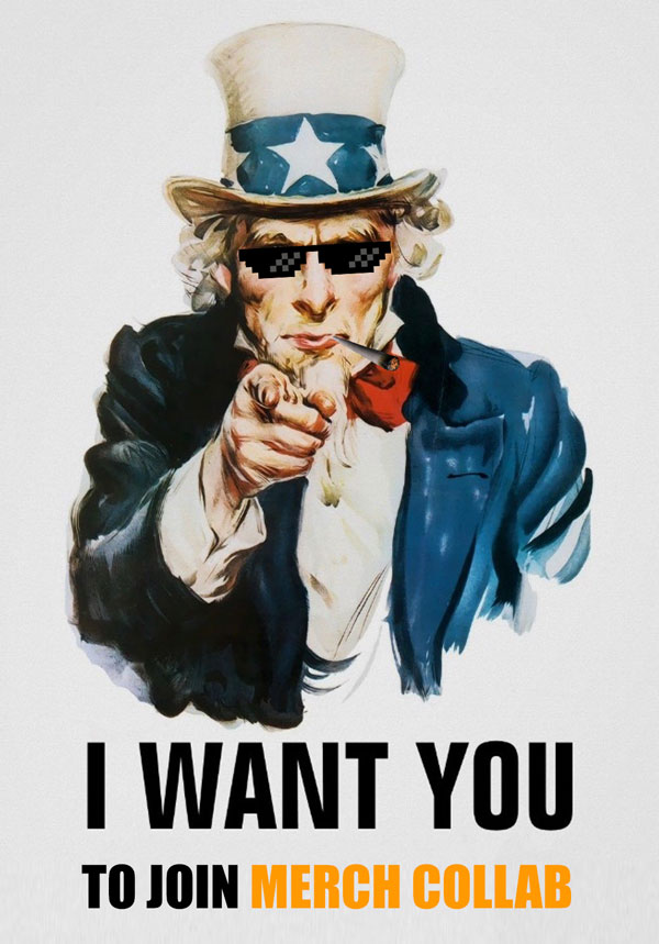 i want you to join merch collab