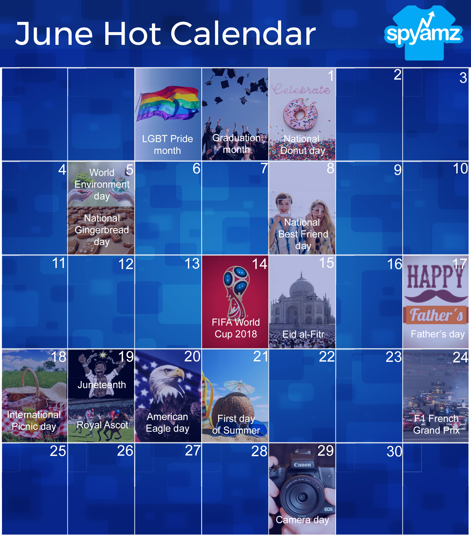 Event Calendar Design Inspiration : Hottest events in june with design inspiration merch by